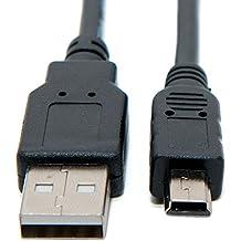 Câble de transfert Keple Mini USB Data Sync & Image pour Canon Digital IXUS Series: IXUS 160/162/165/170/172/185/210/220 HS / 230 HS / 240 HS / 255 HS / 265 HS / 275 HS / 300 HS / 310 HS / 500 HS / 510 HS et beaucoup plus! | Responsable de la synchronisation des données vidéo | (0.8m / 2.6ft)