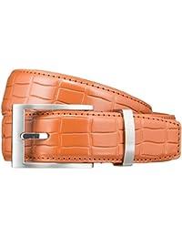 Pioneer Gürtel Herrengürtel Ledergürtel Orange 3414