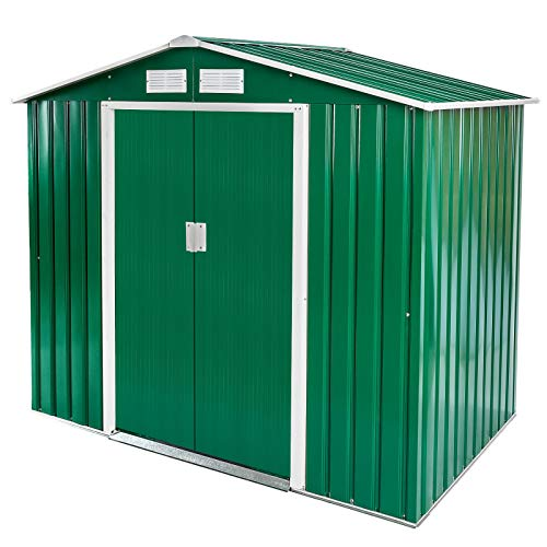 Dirty Pro Tools™ METAL GARDEN SHED 8 X 6 with base