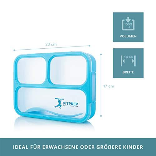 FITPREP Original Lunchbox | 3 Fächer | Auslaufsicher - 2