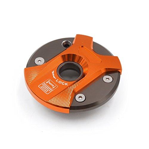 Sourcingmap® Tapa de Naranja aleación Aluminio de Combustible del depósito de Gasolina...