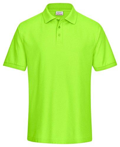 CaptainWorkwear Poloshirt Piqué Unisex für Damen und Herren - Kurzarm T-Shirt einfarbig ? Apfelgrün M