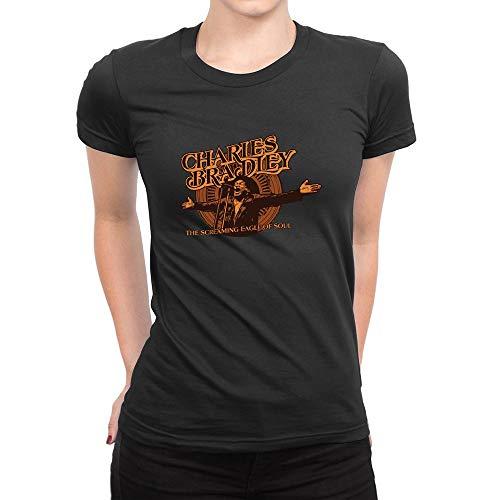 HELUXUEA Donna Charles Bradley Singer Maglietta Nero/T Shirts Nero X-Large