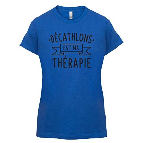décathlons est ma thérapie - Femme T-Shirt - 14 couleur Bleu Royal