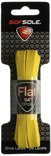 Sof Sole Athletic flach Shoe Lace, Unisex, 83407, gelb, 114 cm - Sof Athletic Sole