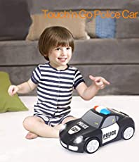 RIANZ All New Touch and Go Police Car with Touchable Function / Music / Lights Automatic Car Toy for Children 1 Pc (Police Car)
