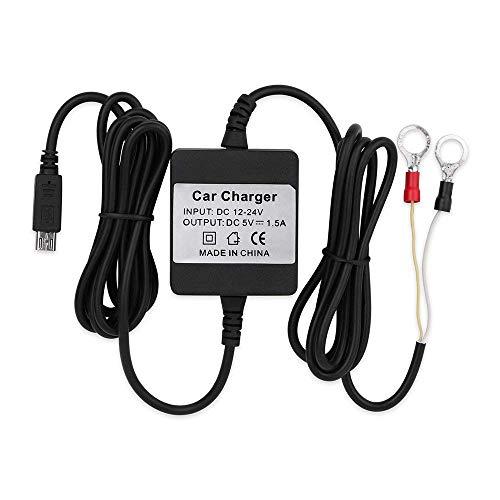 Hangang Adattatore per Caricabatterie da Auto con Cavo Rigido Micro USB per GPS Tracker Serices / TK905 / TK905B / TK915 / TKMARS