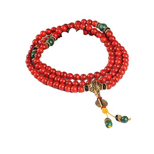 band Naturstein Perlen Mala Halskette buddhistischen Gebet Rosenkranz Strang Armbänder Buddha Meditation ()