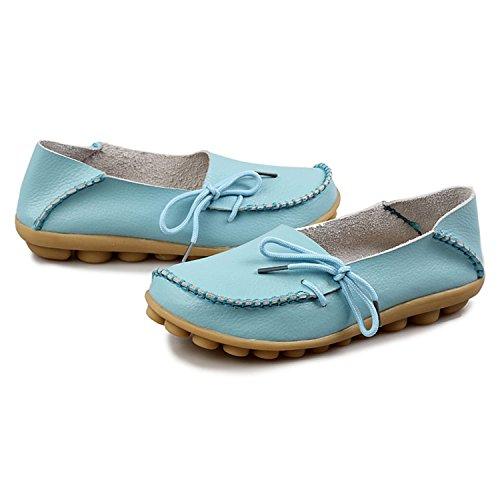 Eagsouni® Donna Moda Mocassino Flats Casuali Comfort scarpe da guida cielo blu