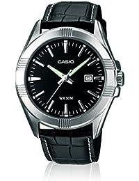 CASIO MTP-1308L-1AVEF - Reloj de caballero de cuarzo, correa de piel color negro