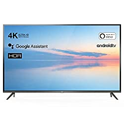 TCL 55EP640 Fernseher 139 cm (55 Zoll) Smart TV (4K UHD, HDR10, Micro Dimming Pro, Android TV, Alexa kompatibel, Google Assistant) Brushed Titanium