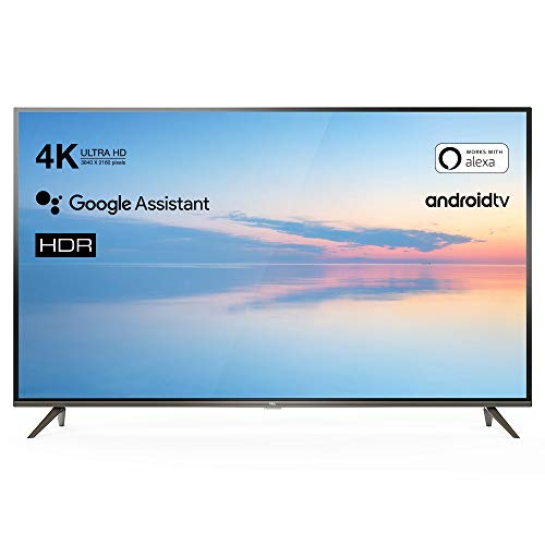 TCL 43EP640 Televisor 108 cm (43 Pulgadas) Smart TV (4K UHD, HDR10, Micro Dimming Pro, Android TV, Alexa, Google Assistant)