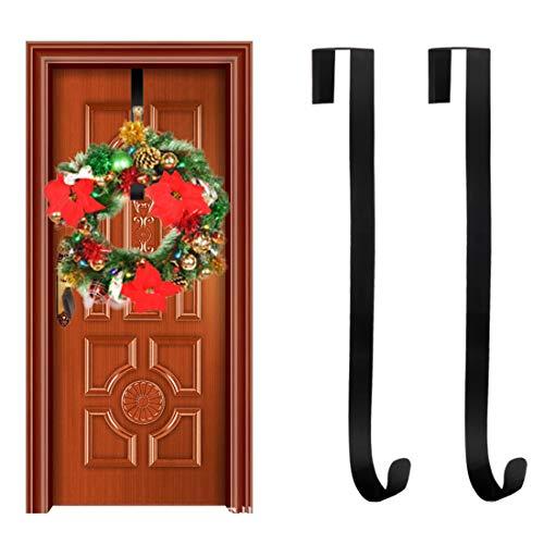 TonJin 2 Stück Kranz-Aufhänger, Aufhänger für Haustür Kranz-Hakenhalter für Weihnachtsdekorationen