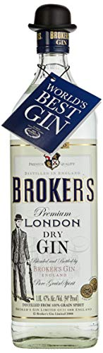 Brokers Gin dry 47% vol. (1 x 1 l)