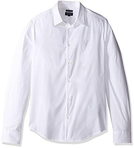 Chemise Homme Armani - Camicia Uomo ARMANI 8N6C09 6N06Z Cotone Strech