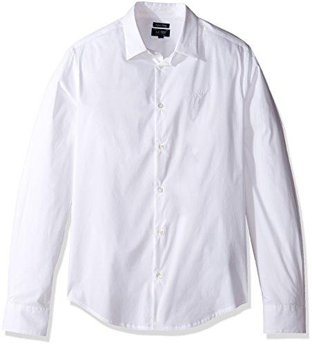 Armani Jeans - Chemise habillée 8n6c09 - 6n06z 0551 Blue white