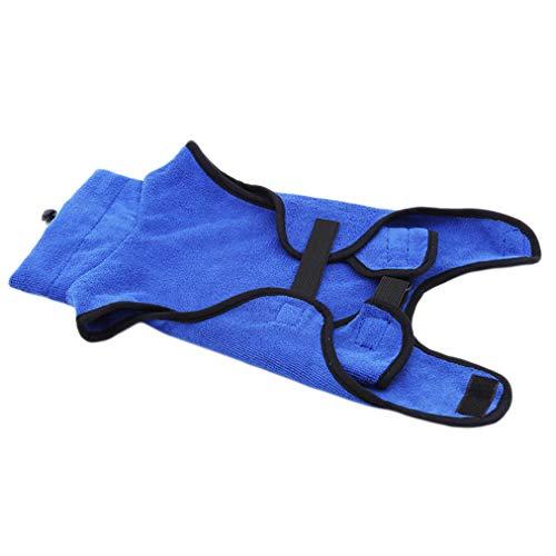 Quick Hunde Kostüm - Sevenfly Soft Mikrofaser Super saugfähig Quick Dry Haustier Hund Bademantel Badetuch Warme Kleidung, XL