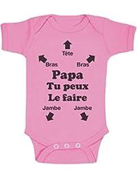 Green Turtle T-Shirts Papa Tu Peux Le Faire ! Futur Papa Naissance Body Bébé 5038d1b7d7a