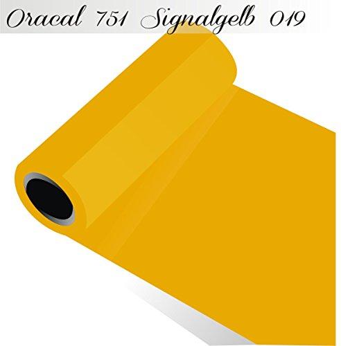 (Oracal 751 von Orafol glänzend - Farbe High Performance - für Küchenschränke und Dekoration / Autobeschriftung / Schutzfolie Folie 10m - Breite 31,5 cm - Farbe 19 - signalgelb)
