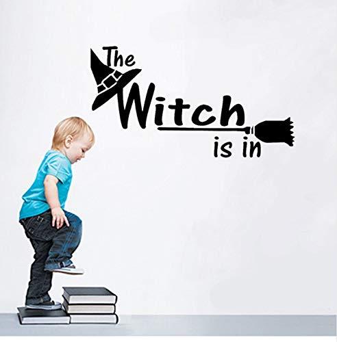 KUANGJING Kinder wandaufkleber Halloween Brief wandaufkleber Fenster wohnkultur Aufkleber Dekoration Hexe Halloween Design DIY 2017 PVC wandtattoo ()