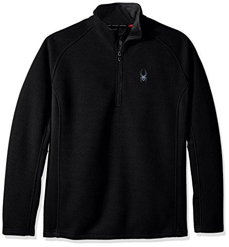 Spyder Herren Outbound Half Zip Tailored MID Jacke, Black, S   00889212375805