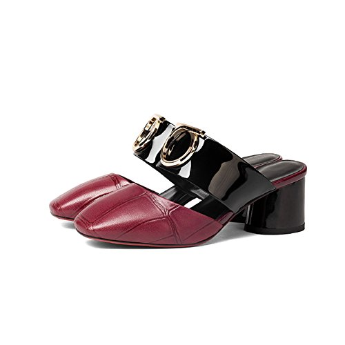 Sandali da moda estivi/Donne con le pantofole mezze in spessa e baotou G