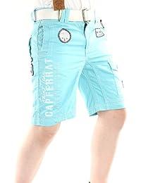 Solamode - Muchacho corto con cinturón - geográfica Noruega - Presidente Boy - moda - turquesa