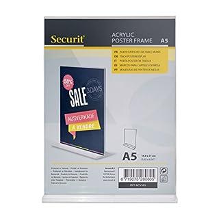 Securit transparent L-förmige Poster Halter, A4Größe, Hochformat Ausrichtung (pft-acl-a4) Vertikal