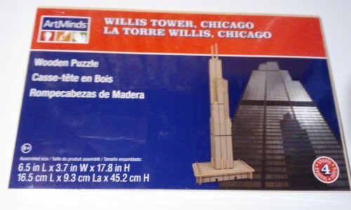 Willis Tower Chicago Wooden Puzzle Artminds by ArtMinds