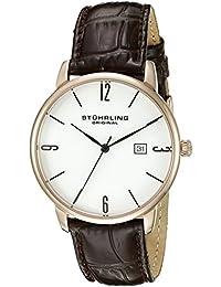 Stührling Original 997L.04 - Reloj analógico para hombre, correa de cuero, color marrón
