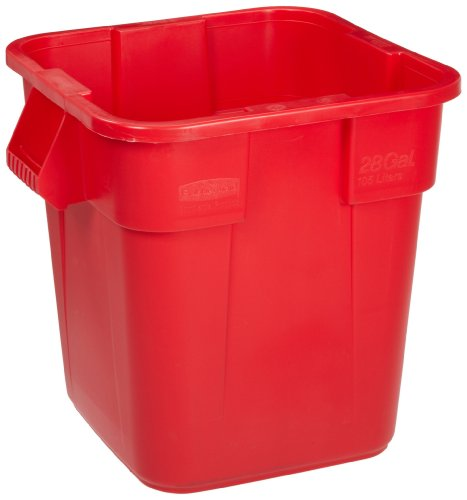 Rubbermaid 106L BRUTE Square Container - Red Red Brute-container