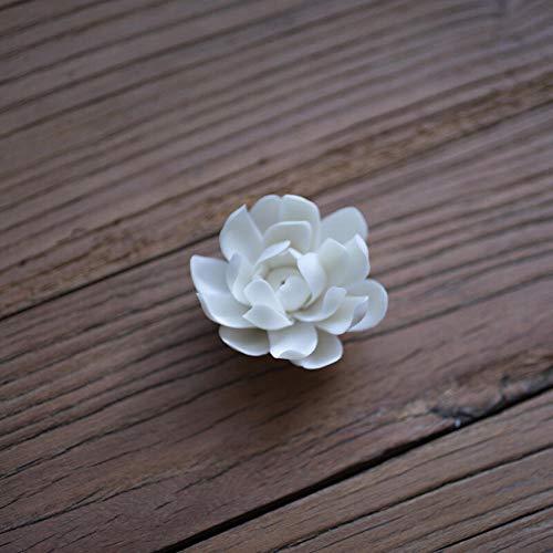 Single-coil-brenner (YUSDE Räucherstäbchenhalter Vintage Buddhisten Keramik Agarwood Räucherstäbchen Sandelholz Räucherstäbchen S Single Loch White Lotus)