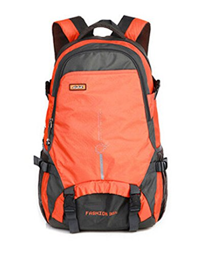 25 Liter Unisex Travel Wandern / Camping Rucksack Ultrabreath Tasche Wasserdichte Nylon Bergsteigen Rucksack (Rot) Orange