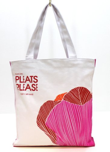 issey-miyake-pleats-please-ladies-shopper-bag-tote-bag-white-with-flower-design