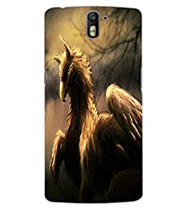 ColourCraft Fantasy Animal Design Back Case Cover for OnePlus One