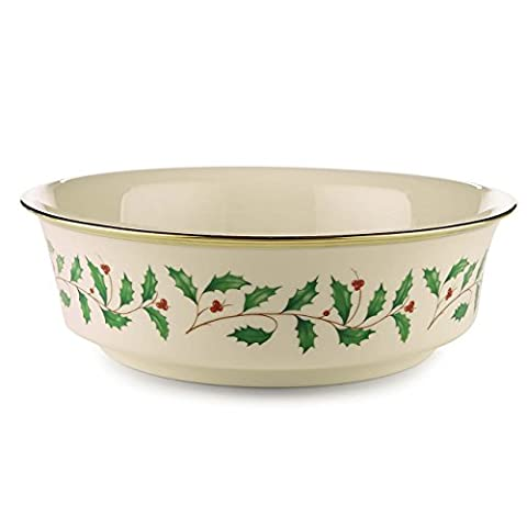 Lenox Holiday Gold-Banded Fine China Serving Bowl