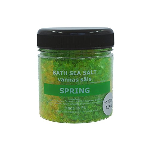 Original Bath Sea Salt for Stress and Pain Relieve with Atlantic Minerals, Spa & Jacuzzi, For Woman & Man (Spring) Badesalz, Meersalz (Mens Uniform Womens)