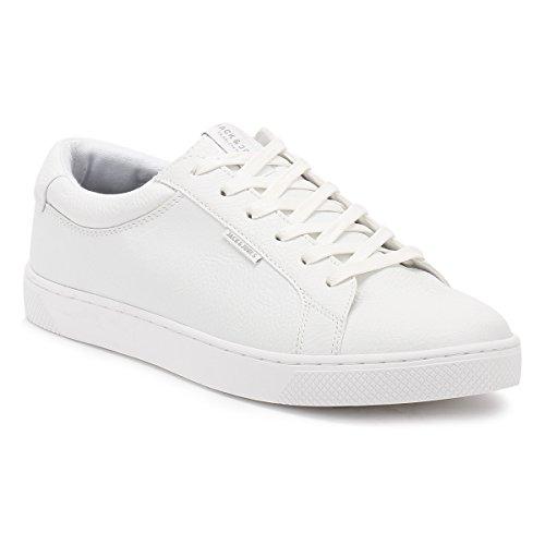 Jack & Jones Men's Sable Pu Classic Men's White Sneakers Bright Blanc