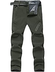 Zhuhaitf Vêtements de sport imperméables Men's Mens Winter Warm Fleece Lined Ski Hiking Walking Windproof Waterproof Mountain Elasticated Trousers Pants