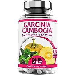 Garcinia Cambogia + L-Carnitina + Té Verde   Potente Quemagrasas   Reductor del apetito  Tú Complemento Natural para Adelgazar  180 Cápsulas