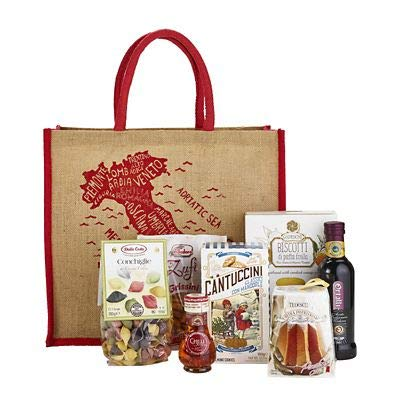 Delicious Taste of Italy Jute Bag Gift Hamper - Ideal Birthday or Christmas Gift