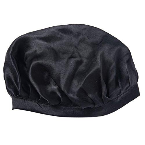 Homyl Atmungsaktive Schlafhaube Schlafmütze Nachtmütze Kopfbedeckung aus Seide für Haarpflege - ()