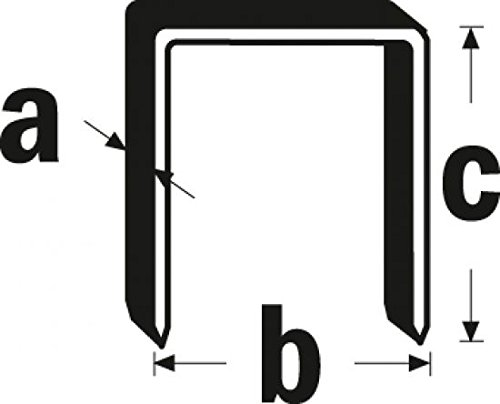 Triuso Agrafes de type 11Lot de 5000C = 12mm