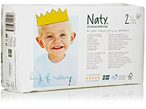 Naty by Nature Babycare ECO Nappies - Size 2, 4 x Packs of 34 (136 Nappies)