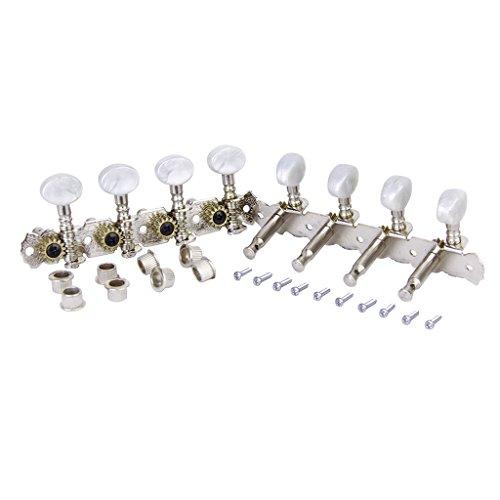Shiwaki Mandolinen Mechaniken Stimmwirbel 4L 4R Nickel Plated Set