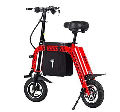 Creing Elektrischer Roller E-Scooter Faltbarer Power Scooter Mit Sitz Elektroroller StraßEnzulassung Cityroller 30 km/h,red
