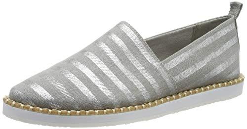 s.Oliver Damen 5-5-24606-32 208 Espadrilles, Grey Stripes, 40 EU