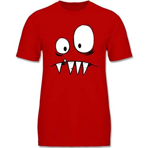 Karneval & Fasching Kinder - Monster Gesicht Kostüm 2-152-164 (12-14 Jahre) - Rot - F140K - Jungen ()