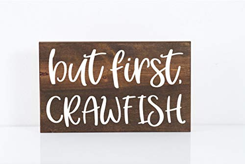 prz0vprz0v Crawfish Signs Crawfish Boil Southern Engagement Engagement Party But First Signs Crawfish Party Southern Wedding Southern Signs Louisiana Decorative Wood Sign 8 x 12 Inch
