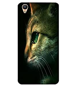 ColourCraft Cute Cat Face Design Back Case Cover for OPPO F1 PLUS